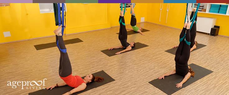 aerial yoga equipment